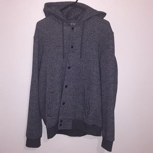 Men's button up sweatshirt